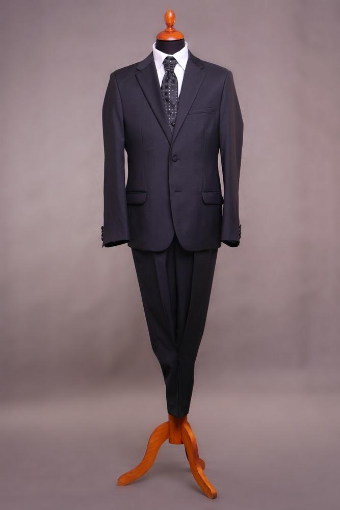 a14eefa294 karcsúsított, sötét kék, gyapjú öltöny