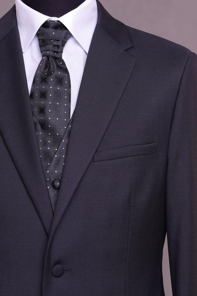 4325643f6f karcsúsított, sötét kék, gyapjú öltöny